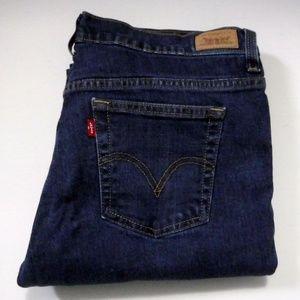 Levis 515 Boot Cut Jeans Size 10 Long Dark Wash